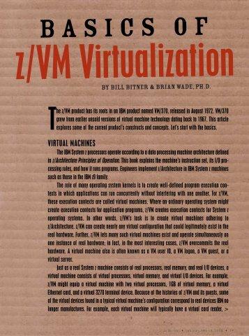 VIrTuAL MACHINES - z/VM - IBM