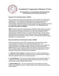 Association for Compensatory Educators of Texas - ACET