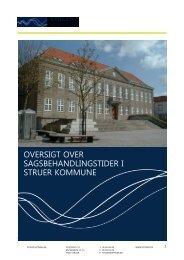 Sagsbehandlingsfrister_revideret august 2013 - Struer kommune