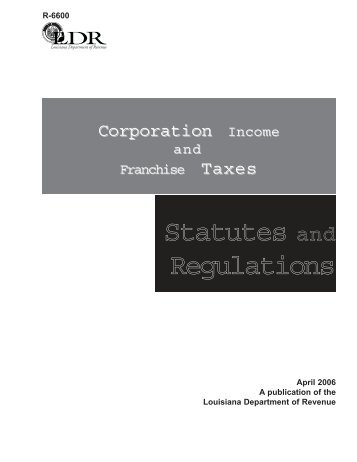 Statutes and Regulations - Louisiana