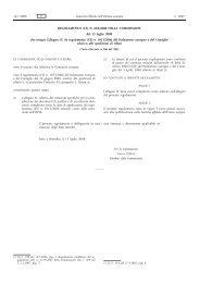 REGOLAMENTO (CE) N. 669/2008 DELLA ... - EUR-Lex