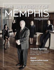 A Grand Opening Donor Appreciation Issue - University of Memphis