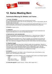 12. Swiss Meeting Bern Technische Weisung für Athleten ... - LA-Bern