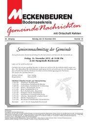 Samstag, 17.11.12 - 17.00 Uhr St. Jakobus ... - Meckenbeuren