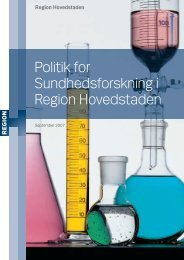 Politik for Sundhedsforskning i Region ... - Amager Hospital