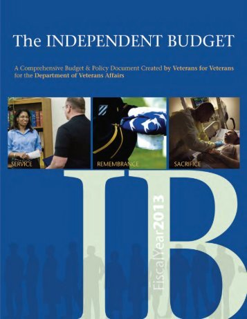 The 2012 Independent Budget FY 2013