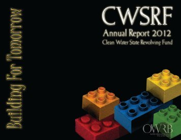 CWSRF 2012 Annual Report - Water Resources Board