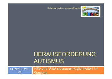 HERAUSFORDERUNG AUTISMUS