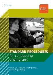 STANDARD PROCEDURES for conducting driving test - RSA.ie