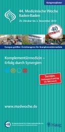 dr. wolfgang hevert-preis 2010 - Medizinische Woche Baden Baden