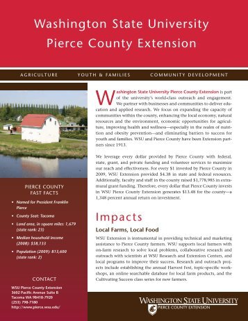 Washington state university Pierce county extension - WSU Extension