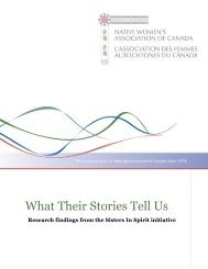 What Their Stories Tell Us: Research findings from - YWCA Canada