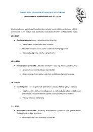 Sokrates Zimný semester akademického roka 2012/2013 Stretnutia ...