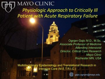 Physiologic Approach to Critically Ill Patient with ... - RM Solutions