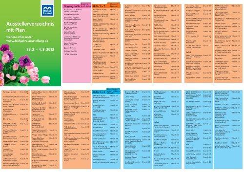 Ausstellerverzeichnis Mit Plan Messe Kassel