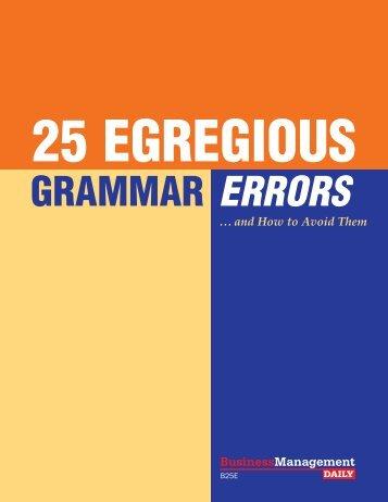 ERRORS GRAMMAR