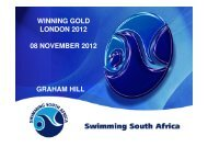Swimming the making of Gold-GRAHAM HILL - HP