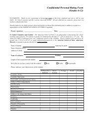 Confidential Personal Rating Form - American School of Paris