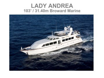 M/Y Lady Andrea - Taylor'd Yacht Charters