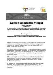 Deeskalations- ausbildung 2013 - Evangelischer Kirchenkreis ...