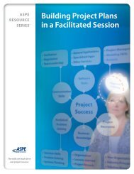 NEW! — Building Project Plans in a Facilitated Session - ASPE