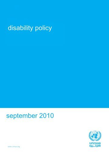Disability Policy - Unrwa