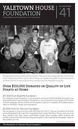 Autumn 2008 Yaletown House Foundation Newsletter