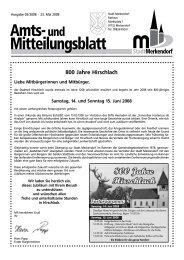 800 Jahre Hirschlach - Stadt Merkendorf