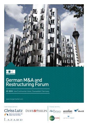 German M&A and Restructuring Forum - Mergermarket