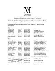 2011-2012 Mendelssohn Music Network - Teachers