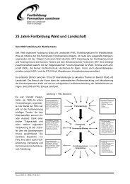 Geschichte Fortbildung Wald und Landschaft - 2013