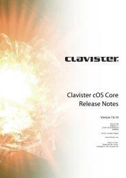 Clavister cOS Core Release Notes