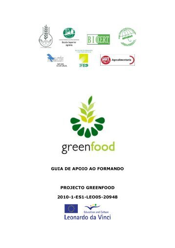 guia de apoio ao formando projecto greenfood 2010-1 ... - Projects