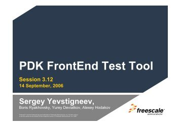 PDK FrontEnd Test Tool