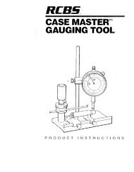 Case Master Gauging Tool Instructions - RCBS