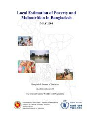 WFP--Local Estimation of Poverty and Malnutrition in Bangladesh