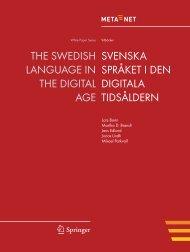 THE SWEDISH LANGUAGE IN THE DIGITAL AGE ... - Meta-Net