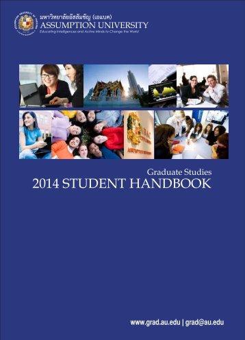2013 STUDENT HANDBOOK - Assumption University