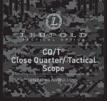 CQ/T® Close Quarter/ Tactical Scope