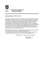 Jahresbericht 2010 / 2011 - Gemeinde Hausen am Albis
