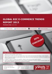GLOBAL B2C E-COMMERCE TRENDS REPORT 2013 - yStats.com