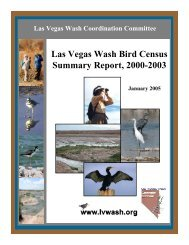 Final Las Vegas Wash Bird Census Summary Report, 2000-2003