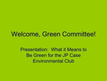 Environmental Club Presentation