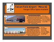 Falcon Field Airport - Mesa AZ - City of Mesa