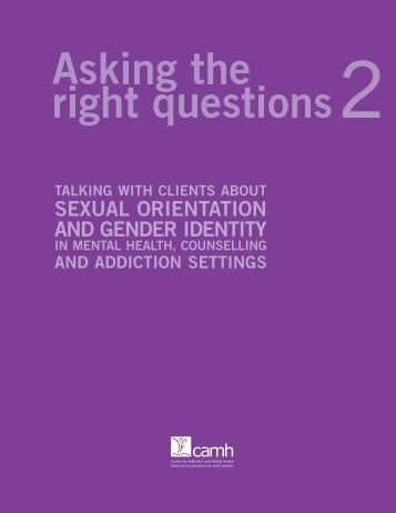 Asking the right questions 2 - Rainbow Health Ontario
