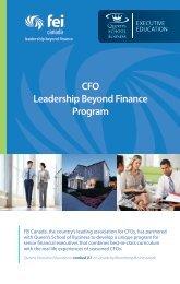 20141020 CFO Leadership Beyond Finance Program Brochure FINAL