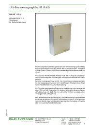 USV-NT 12-6_S - FG-Elektronik GmbH