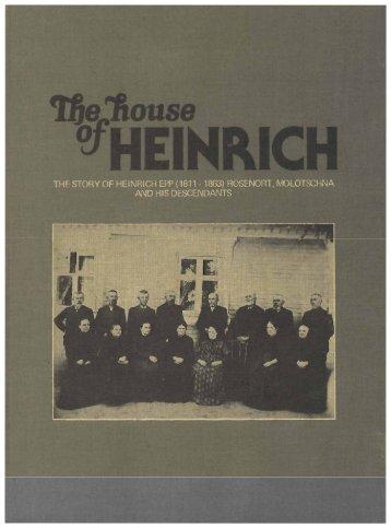 House of Heinrich Ep.. - Mennonite Church Canada