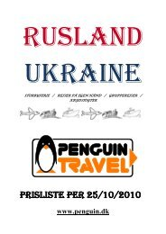 Prisliste Per 25/10/2010 - Penguin Travel