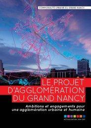 Le projet d'agglomération du Grand Nancy - Apur